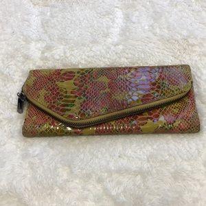 HOBO International snakeskin trifold wallet